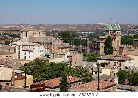 Spain. View Of The Mediaeval Town Toledo.