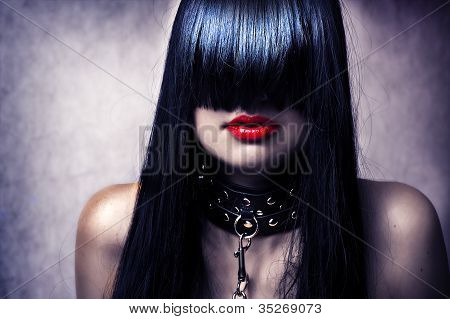 Fashion Portrait Of Young Sexy Lady