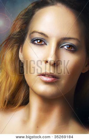 Fashion Portrait Of Young Glamour Woman