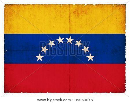 Grunge Flag Of Venezuela
