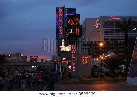 On The Strip At Dusk