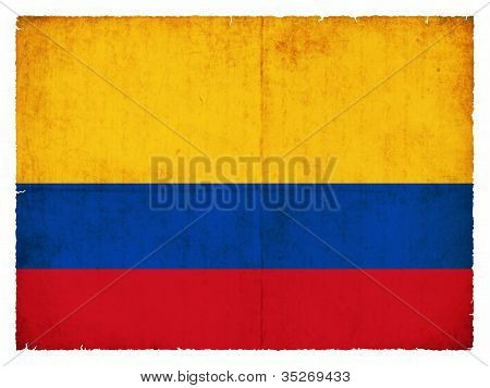 Grunge Flag Of Colombia