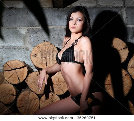 Woman And Firewood
