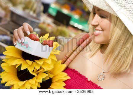 Sunflower And Strawberries