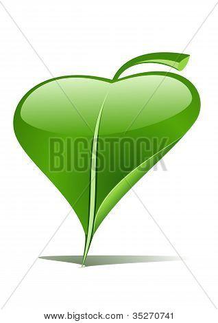 grünes Blatt-Zeiger
