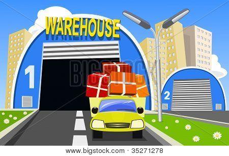 Lager und Lieferung LKW
