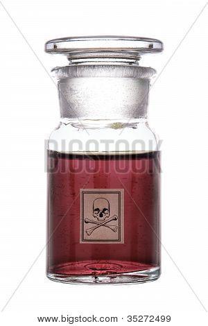 Poison Bottle With Skull And Bones Warning Label