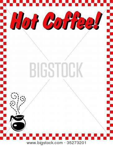 Coffee House Menu Border Frame Background