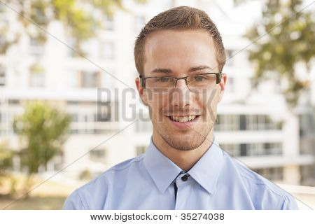 Smiling Businessman Portrait
