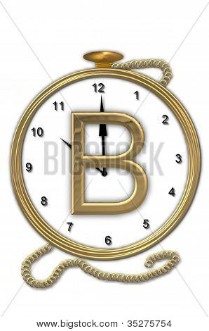 Alphabet Pocket Watch B