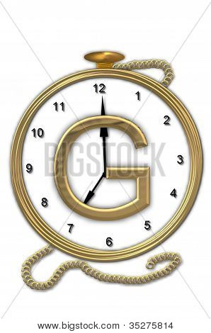 Alphabet Pocket Watch G
