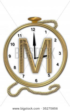 Alphabet Pocket Watch M