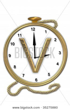 Alphabet Pocket Watch V