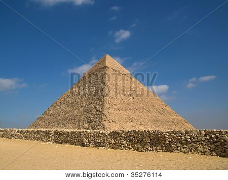 Pyramid of chephren in Giza in Egypt