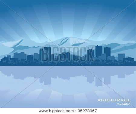 Skyline de Anchorage, Alasca