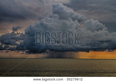 Thunder storm cloud
