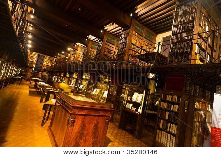 Old World Hendrik Conscience Library Antwerp