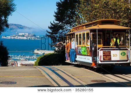 Powell Hyde Cable Car Alcatraz San Francisco