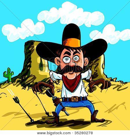 Cowboy ready to draw