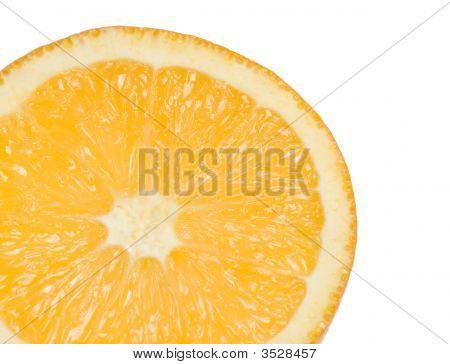 Orange Slice On White Background
