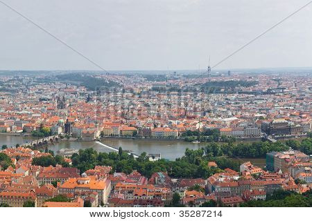 Huge 360 Panorama Of Prague