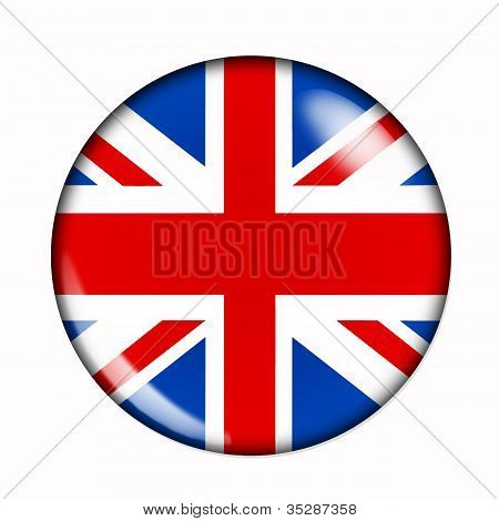 Button Flag Of Great Britain