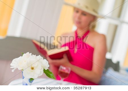 Lady And Book