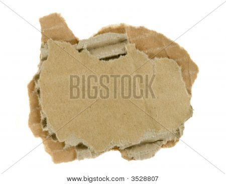 Torn Piece Of Corrugated Fiberboard