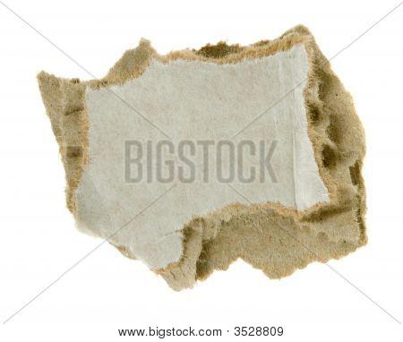 Torn Piece Of Corrugated Fiberboard