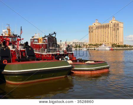 Tugboats On Savannah River