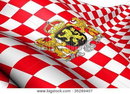 Flag Of North Brabant, Netherlands.