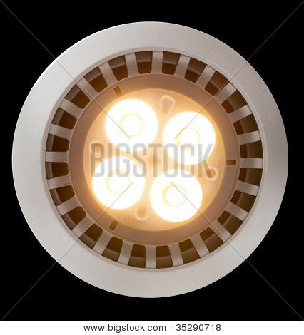 Led Light Bulb Lit From Above