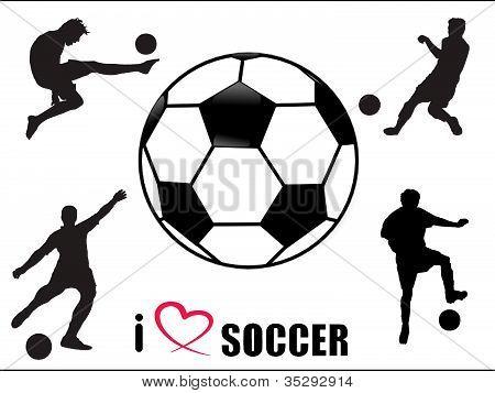 Soccer fan symbols