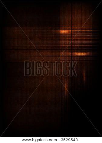 Linha abstrata de vetor e onda. laranja