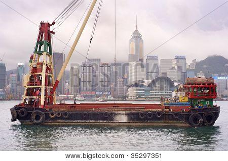 Barge In Hong Kong