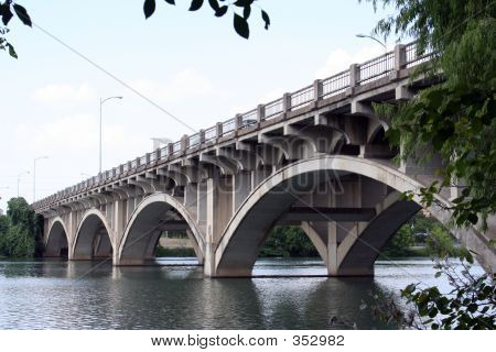 Historic Lamar Bridge In Austin, Texas