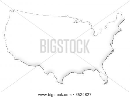 Estados Unidos mapa 3D