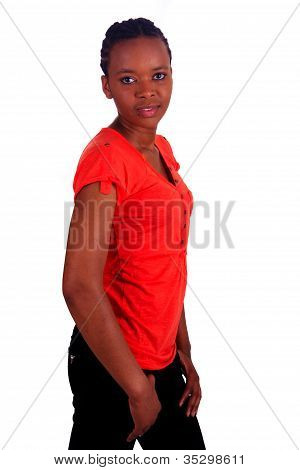 Woman African Beautiful Young Black  Isolated