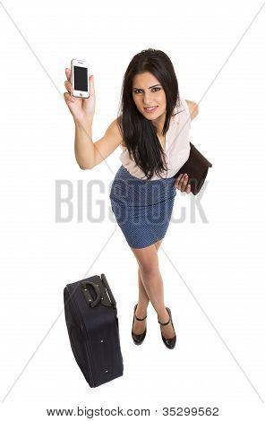 Reisen schöne geschäftsfrau