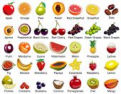 stock photo of papaya fruit  - This ollection includes 35 icons of colorful fruits - JPG