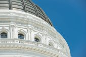 foto of mandates  - Sacramento Capitol Building in California with Blue Sky - JPG