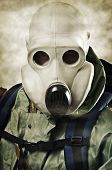 image of doomsday  - Man in a gas mask - JPG