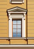 foto of pilaster  - Fine window decorated with portico and pilasters - JPG