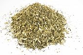 picture of catnip  - Heap of dried catmint on white background - JPG