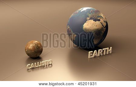 Callisto And Earth