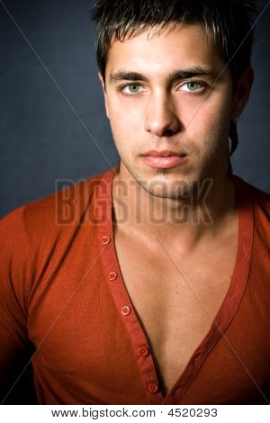 Fashion Portrait Of Handsome Sexy Man