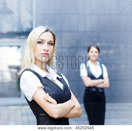 Two young attractive business women