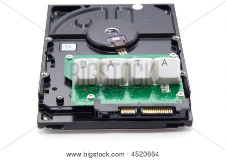 "Sata Hard Drive And ""data"" Sign"
