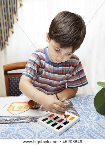 Little Boy Paints