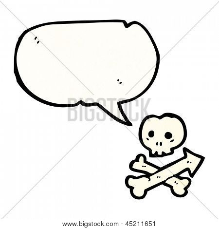 skull and crossbones with speech bubble